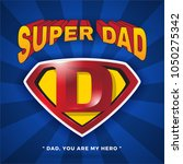 super dad logo design for... | Shutterstock .eps vector #1050275342