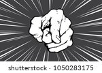 pointing finger illustration ... | Shutterstock .eps vector #1050283175