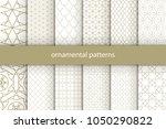 vector set of 12 oriental... | Shutterstock .eps vector #1050290822