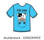 funny cow cartoon design... | Shutterstock .eps vector #1050294935