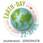 vector vintage poster for earth ... | Shutterstock .eps vector #1050296378