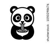 cute cartoon panda character... | Shutterstock .eps vector #1050298676