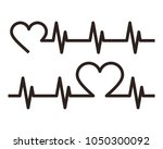 heartbeat icons.... | Shutterstock .eps vector #1050300092