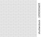 white brick wall in subway tile ... | Shutterstock .eps vector #1050303605