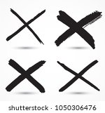x marks .two crossed vector... | Shutterstock .eps vector #1050306476