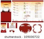 template of sushi menu | Shutterstock .eps vector #105030722