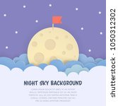 cloudscape background with the... | Shutterstock .eps vector #1050312302