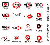 vlog video channel logo icons... | Shutterstock .eps vector #1050315035