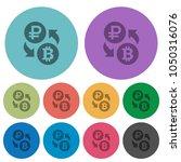 ruble bitcoin money exchange... | Shutterstock .eps vector #1050316076
