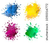 colored ink or paint paint... | Shutterstock .eps vector #1050316772