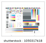 ctp plate 4 separation chart... | Shutterstock .eps vector #1050317618