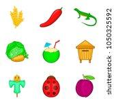 vegetable origin icons set.... | Shutterstock .eps vector #1050325592