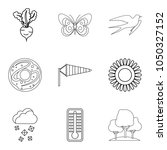 wheat variety icons set.... | Shutterstock .eps vector #1050327152