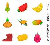 olericulture icons set. cartoon ... | Shutterstock .eps vector #1050327182