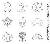 sweet fennel icons set. outline ... | Shutterstock .eps vector #1050327185