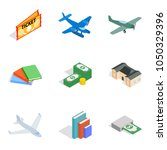 variety money icons set.... | Shutterstock .eps vector #1050329396