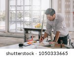 engineering construction... | Shutterstock . vector #1050333665