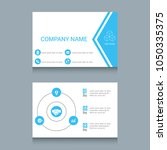 business card designs. easy to... | Shutterstock .eps vector #1050335375