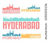 hyderabad india flat icon...   Shutterstock .eps vector #1050353156