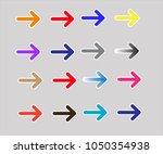 set multicolor arrows icon on... | Shutterstock .eps vector #1050354938
