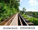 beautiful landscape of railway... | Shutterstock . vector #1050358328