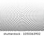 abstract halftone wave dotted... | Shutterstock .eps vector #1050363902