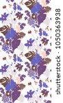 purple hibiscus exotic flower... | Shutterstock .eps vector #1050363938