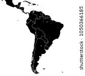south america silhouette vector ... | Shutterstock .eps vector #1050366185