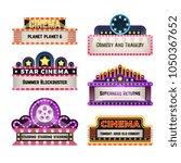 old theater movie neo light... | Shutterstock .eps vector #1050367652