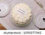 first holy communion cake on... | Shutterstock . vector #1050377342