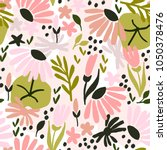 seamless pattern with stylized... | Shutterstock .eps vector #1050378476