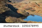 the fairy glen on the isle of... | Shutterstock . vector #1050378995