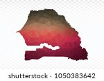 map polygonal senegal map.... | Shutterstock .eps vector #1050383642