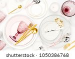 tableware and decorations for... | Shutterstock . vector #1050386768