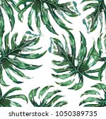 seamless pattern of a tropical... | Shutterstock .eps vector #1050389735