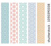 seamless line borders patterns... | Shutterstock .eps vector #1050390338