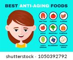 best anti aging foods... | Shutterstock .eps vector #1050392792