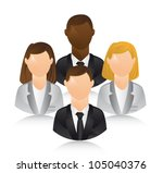 business people over white... | Shutterstock .eps vector #105040376