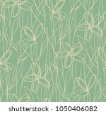 cute floral ditsy print... | Shutterstock .eps vector #1050406082