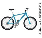 bicycle vehicle isolated icon | Shutterstock .eps vector #1050408455