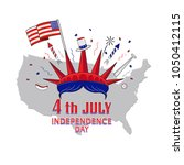 4th of july  united stated... | Shutterstock .eps vector #1050412115