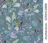 watercolor seamless pattern.... | Shutterstock . vector #1050413888