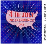4th of july  united stated... | Shutterstock .eps vector #1050414845