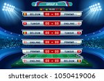russia 2018 football world cup... | Shutterstock .eps vector #1050419006