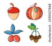 vegetables icon set. cartoon... | Shutterstock .eps vector #1050427868