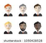 set of six avatar icons... | Shutterstock .eps vector #1050428528