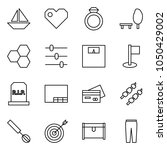 flat vector icon set   sail... | Shutterstock .eps vector #1050429002