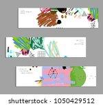 abstract universal art web... | Shutterstock .eps vector #1050429512