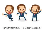 set of tiny businessman... | Shutterstock .eps vector #1050433016