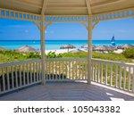 Tropical Beach In Cuba Seen...